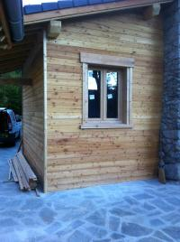 Construction extension bois chalet